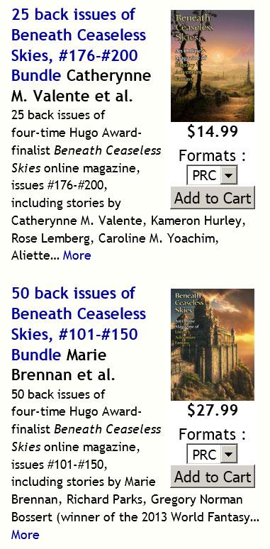 Beneath Ceaseless Skies | Back Issue Bundles