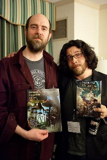 At Con-fusion, with Saladin Ahmed