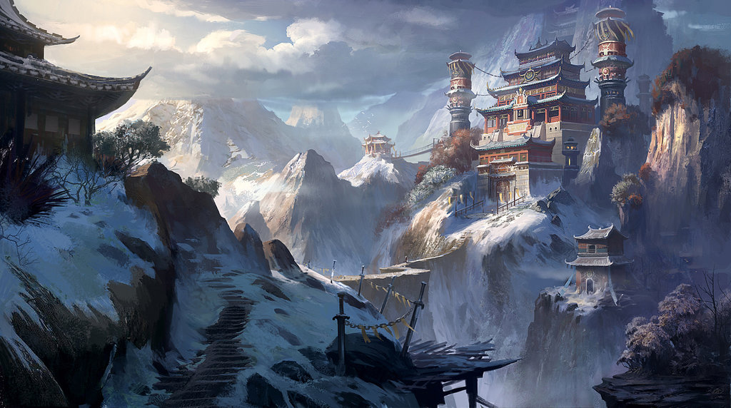 """Huashan Temple"" by Xiao Ran (Dawn Pu)"