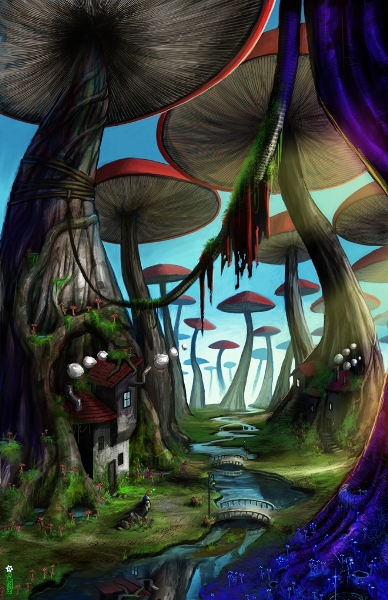 """""""Mushroom Forest,"""" by Geoff Trebs"""